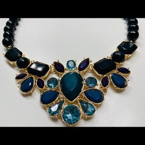 Jewelry - Beaded Teal Statement Necklace
